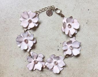 80's Vintage Talbots Enamel Flower Bracelet