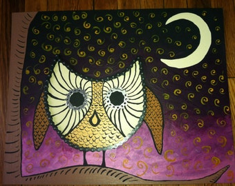 ReCycled Trippy Owl