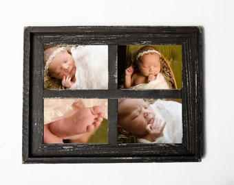 2 5x7 stacked barn window collage picture frame christmas gift rustic picture frame - Window Collage Frame
