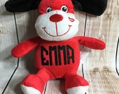 Personalized RED PUPPY Stuffie
