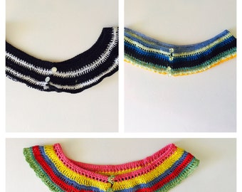 Cotton Tribal Looking Collar, choose a color , Woman Fashion, African/Egyptian Inspired, Hand Made in the USA, Item No. BDE004