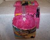 Scrap Bag Pincushion Organizer - Scrap Bag Cather - Thread Catcher - Snippets - Sewing Scrap Bag - Needle work Scrap Catcher