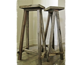 Tablery .|.  ENDS .|. weathered wood side tables