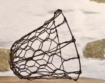 French wire Muzzle basket lampshade industrial farming cattle rustic farm country mask