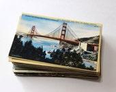 100 Vintage California Unused Postcards Blank - Unique Travel Wedding Guest Book, Reception Decor, Travel Journal Supplies