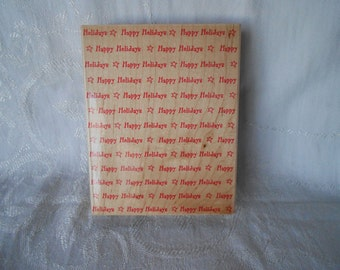 Extra Large HAPPY HOLIDAYS Stamp - Hero Arts Stamp - Out of Print - 1997- Christmas Stamp - Destash - Never Used - Ready to Ship