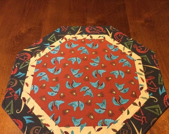 Quilted Table Topper, Southwest
