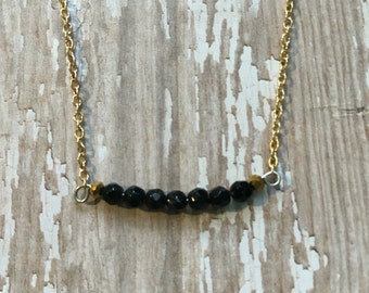 Onyx layering necklace