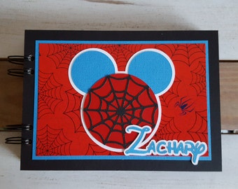Personalized Disney Autograph Book Inspired by Spiderman