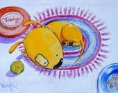 "Art Print ""Canis Circuitous"""
