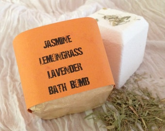 Jasmine  Lemongrass Lavender Bath Bomb - Aromatherapy - Spa Treatment