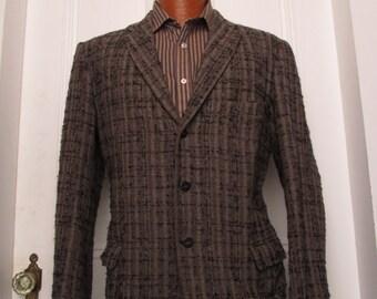 50's Vintage  Men's Nubby Tweed Blazer Jacket 38