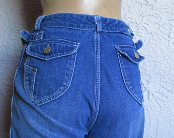 70s Vintage  High Waist Organically Grown Jeans rare medium
