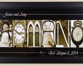 10x20 Custom alphabet photo name framed