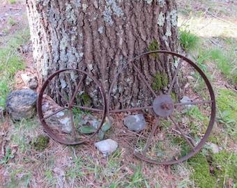 Antique rustic wagon wheels