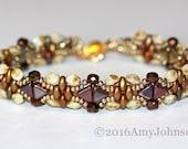 Copper Bracelet, Puca Bead Cuff,Ecru Copper Beaded Bracelet,Copper Cuff Beaded,Jewelry, Gift, Statement Bracelet, Amy Johnson Designs,BX2017