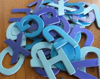 "Blue Chipboard Letters Size 1"""