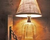 Kentucky Whiskey Bourbon Straight Bottle Lamp Glass Light Free US Shipping