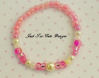 Easter Pink and Pearl Bracelet