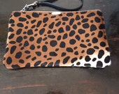 "Leopard  Pouch 5""x8 """