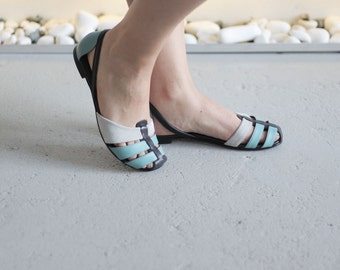 Julia - Blue - FREE SHIPPING Handmade Leather Shoes