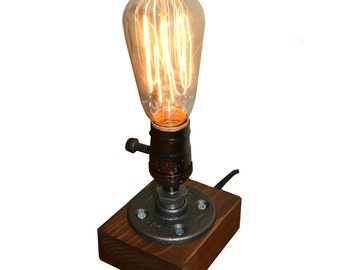 Preston Farmhouse Industrial Desk / Table Lamp  - Vintage Rustic Style Edison Pipe Lighting