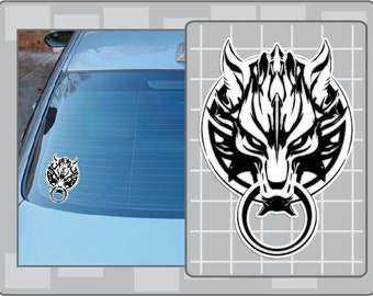 Cloud's WOLF LOGO Icon from Final Fantasy Vinyl Decal Sticker