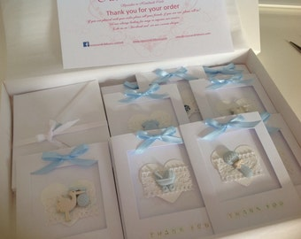 Handmade New Baby Thank You Cards