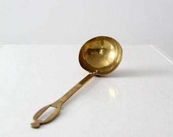 SALE antique brass ladle