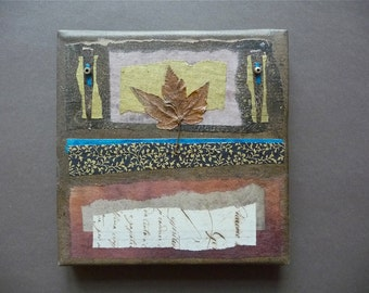 One of a kind mixed media collage