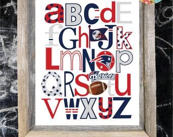 PATRIOTS football ABC Nursery Art Print