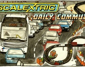 Scalectrix: Daily Commute - Limited edition signed print