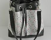 Laura Purse {PDF sewing pattern} instant download, sewing, sew, tote bag, bag, zipper pocket, sotak patterns, removable strap, drawstring