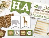 Safari Party Printable Invitation Safari Banner Jungle Party Safari Birthday, Jungle Birthday, Zoo Invitation, Jungle Invitation