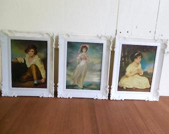 Set of 3 Framed Famous Paintings Prints, 3 Victorian Children Prints