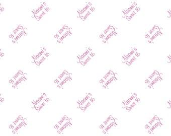 Birthday - Bat Mitzvah - Bar Mitzvah custom tissue paper