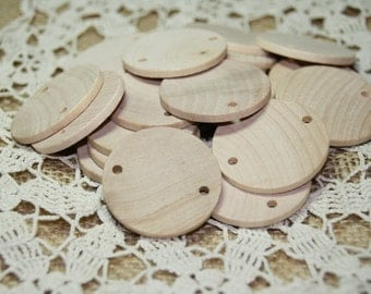 """25 - 100 Natural Wooden Circles for Birthday Boards 1 1/2"""" diameter 1/8"""" thick"""