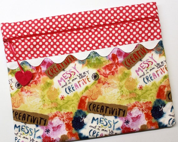 Creativity is Messy Cross Stitch Embroidery Project Bag