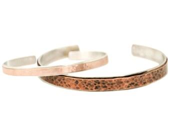 His and hers bracelets, custom couple bracelets, sterling silver anniversary cuff bracelets, personalized cuff bracelets, message cuffs