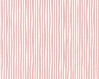 "ORGANIC, 1 Yard ""Straws"" in Pink, OOP Cloud9 Fabrics, Quilting Weight Cotton"