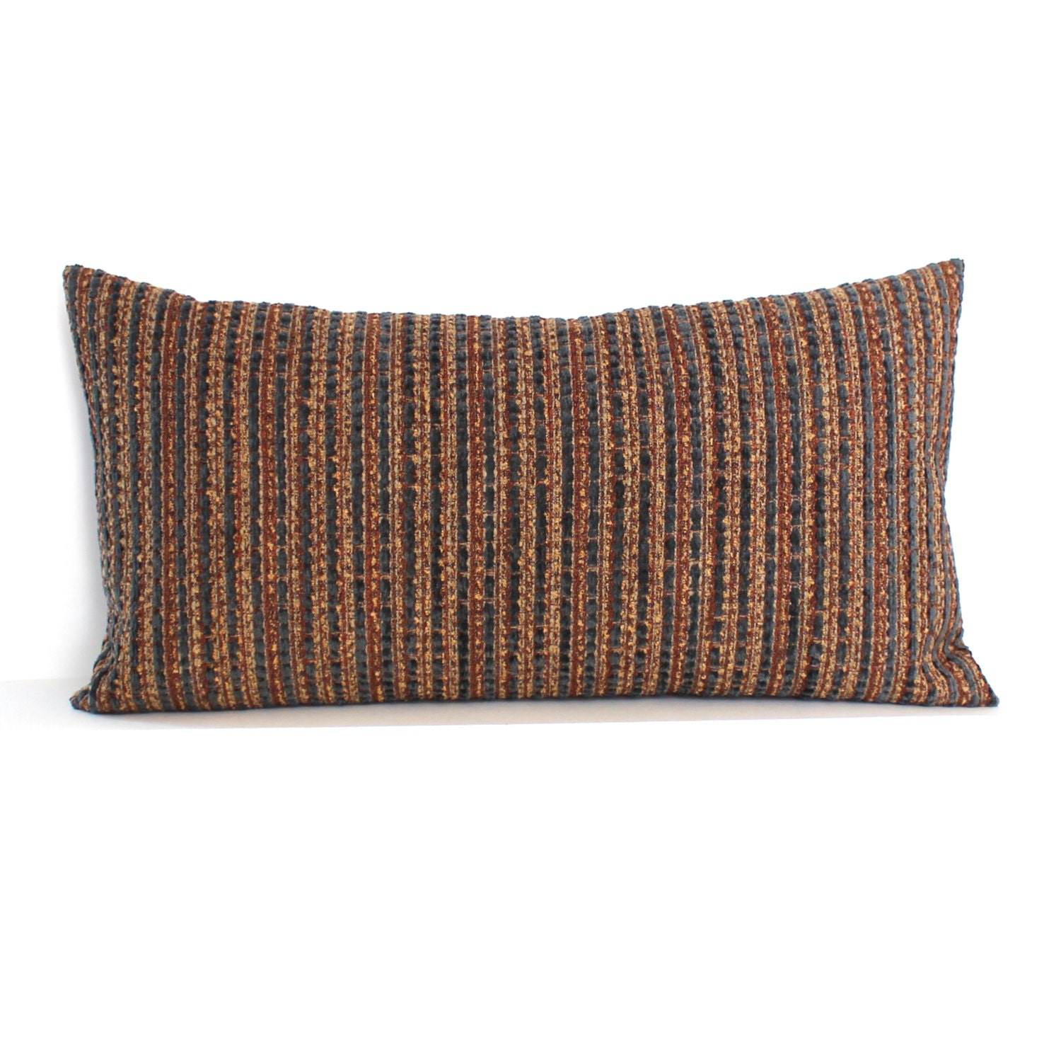 Throw Pillow Rust : Lumbar Pillow Cover Rust Pillow Cover Textured by couchdwellers