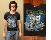 vintage Jethro Tull tour shirt 1979 Stormwatch t-shirt paper thin soft burnout shredded 1970 70s rock concert shirt Never Too Old