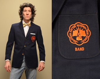 mens vintage sport coat 50s 60s band jacket Jonathan Dayton High School 1950 1960 menswear Ostwald uniform 36 Springfield NJ
