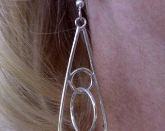 R9--Sterling Silver Dangle Earrings