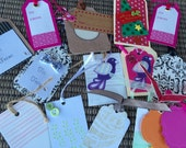 16 Assorted Embellished Tags Great for your Gifting