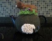 Highland cow tea cozy