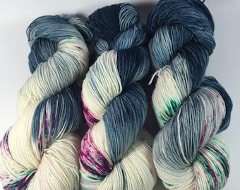 BFL Twist, Sock Yarn, Hand Dyed Yarn, Swing Style  , Superwash BFL, blue faced leicester, High Twist, yarn