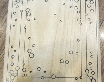 Art Gone Wild Bubble Background 1997 Stars Extra Large Xl Wooden Rubber Stamp