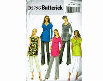 Maternity Wardrobe Top and Pants Uncut Sewing Pattern Butterick 5796 Sizes 8 10 12 14 16