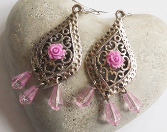 Fantasy flower earrings